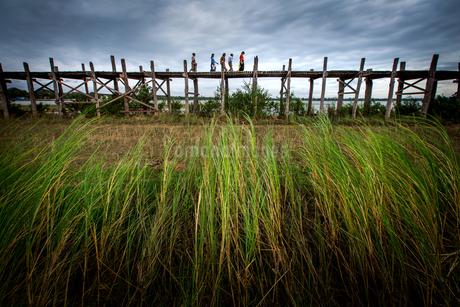 Myanmar Mandalay Amarapura U Bein Bridgeの写真素材 [FYI02346787]