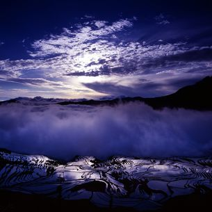 Terrace field;Yunnan Province;Chinaの写真素材 [FYI02347413]