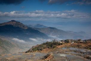 terrace field in Yunnan Province;Chinaの写真素材 [FYI02347439]