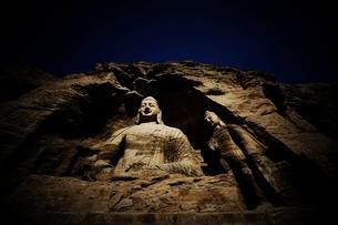 Yungang Caves;Shanxi Province;Chinaの写真素材 [FYI02347479]