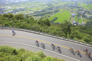 Beiyi Road Cycling Race;Yilan Countyの写真素材 [FYI02347648]