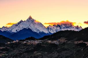 Meili Snow Mountain; Deqin; Yunnan; Chinaの写真素材 [FYI02347688]