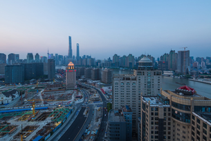 Overview of the City Shanghai; Chinaの写真素材 [FYI02347705]