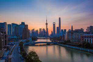 Overlooking of Shanghai cityの写真素材 [FYI02347759]