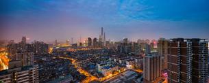 Panoramic view of the city Shanghaiの写真素材 [FYI02347831]
