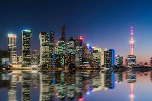 Shanghai City Skyline; backgroundの写真素材 [FYI02347857]
