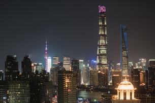 Modern City view of Shanghai; Chinaの写真素材 [FYI02347985]