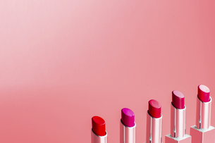 Multicolored lipstickの写真素材 [FYI02348422]
