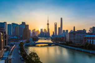 Overlooking of Shanghai cityの写真素材 [FYI02348570]