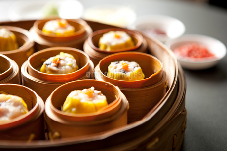 Chinese steamed bunsの写真素材 [FYI02348713]