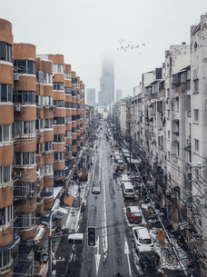 Nanjing Drum Tower alley,Nanjing,Jiangsu,Chinaの写真素材 [FYI02349016]