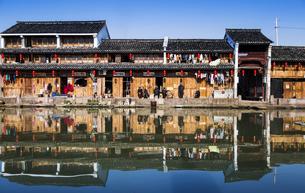 Meizhu Ancient Village, Shaoxingの写真素材 [FYI02349074]