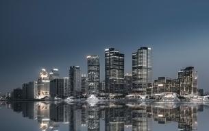 Metropolitan area city skyline; Shanghai; Chinaの写真素材 [FYI02349174]