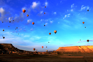 Hot Air Balloon,Turkeyの写真素材 [FYI02349190]