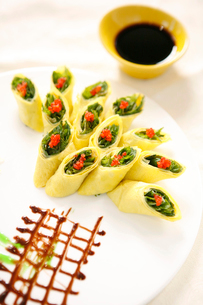 Caviar dish rollの写真素材 [FYI02349416]