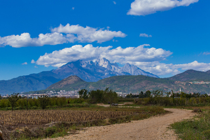 Overview of Old Town of Lijiang;  Yunnan; Chinaの写真素材 [FYI02349585]