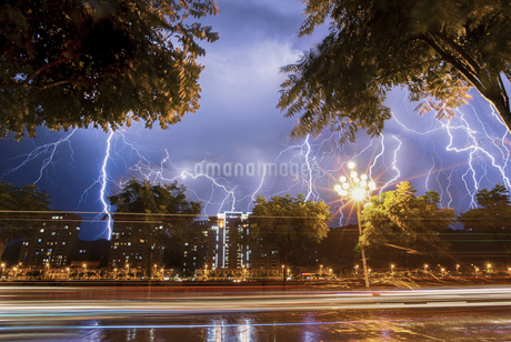 A feast of lightning,Chinaの写真素材 [FYI02350013]