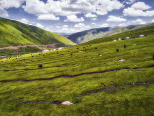 aerial photography of Andou country,Sichuan Province,Chinaの写真素材 [FYI02350040]