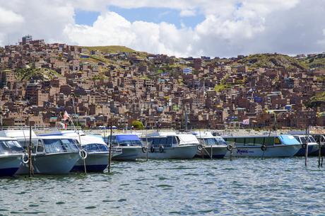 City view to Puno,Peru,Cuscoの写真素材 [FYI02350204]