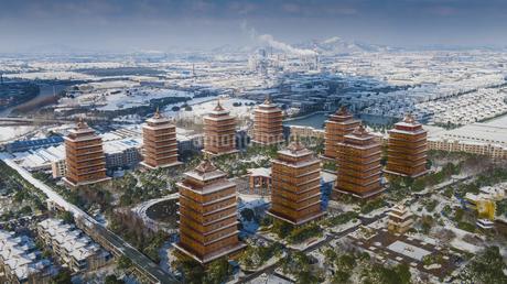 winter,Huaxi Village, Jiangyin City, Jiangsu Province, Chinaの写真素材 [FYI02350248]