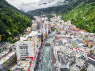 aerial photography of luchengTown,Sichuan Province,Chinaの写真素材 [FYI02350297]