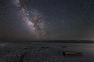 A starry night,Qinghai, Chinaの写真素材 [FYI02350327]