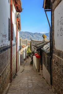 Dayan ancient town,Lijiang, Yunnan, Chinaの写真素材 [FYI02350364]