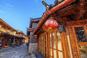 Shuhe Ancient Town, Lijiang, Yunnan,Chinaの写真素材 [FYI02350407]