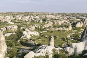 Mountain landscape,Cappadocia,Turkeyの写真素材 [FYI02350495]