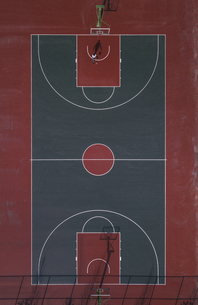 Aerial view of the Basketball courtの写真素材 [FYI02350543]