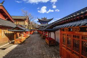 Dayan ancient town,Lijiang, Yunnan, Chinaの写真素材 [FYI02350734]