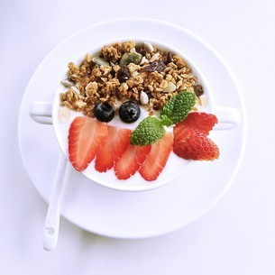 Yoghurt Mousseの写真素材 [FYI02350826]
