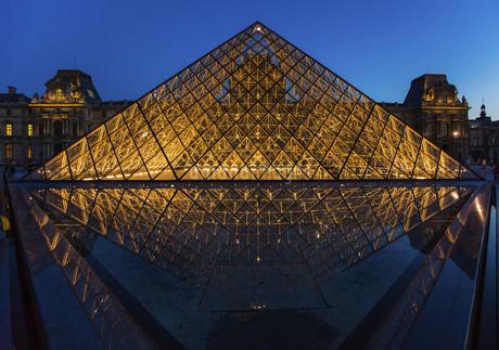 Louvre Museum, Paris, Franceの写真素材 [FYI02350885]