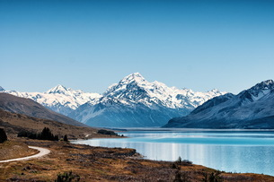 Cook snow mountain,New Zealand,の写真素材 [FYI02350980]