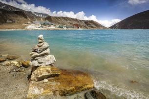 Gokyo,Alpine Lake, Nepal,の写真素材 [FYI02351002]