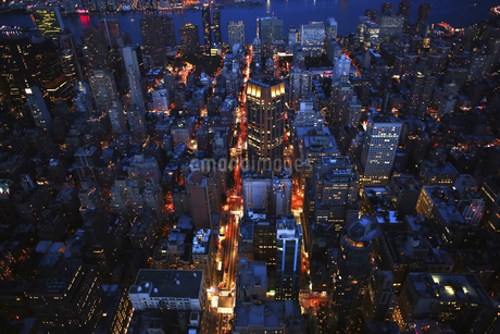 Aerial view of New York city, USAの写真素材 [FYI02351037]