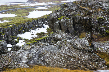 Geography in Thingvellir National Park in Iceland,Icelandの写真素材 [FYI02351052]