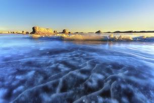Coastline,Qinghai,Chinaの写真素材 [FYI02351083]