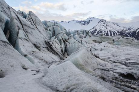 Glacier Terminal in Vatnaj,Icelandの写真素材 [FYI02351134]