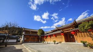 Dayan ancient town,Lijiang, Yunnan, Chinaの写真素材 [FYI02351166]