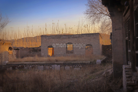 Loess Plateau, Shanxi, Chinaの写真素材 [FYI02351197]