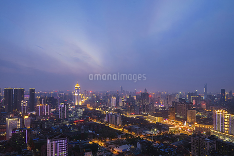 City Night Scenic Wuhan,Hubei,Chinaの写真素材 [FYI02351315]