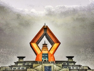Famen Temple,Baoji,Xiの写真素材 [FYI02351361]