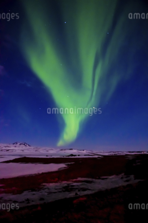 Northern light in Iceland (Aurora),Icelandの写真素材 [FYI02351371]