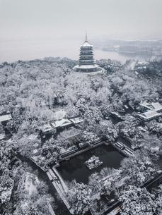 Leifeng Pagoda,Hangzhou,Zhejiang,Chinaの写真素材 [FYI02351374]