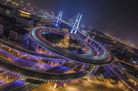 Nanpu bridge,Shanghai,Chinaの写真素材 [FYI02351389]