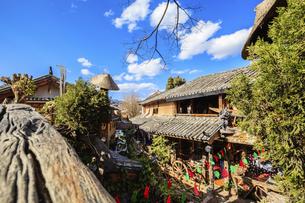 Dayan ancient town,Lijiang, Yunnan, Chinaの写真素材 [FYI02351617]