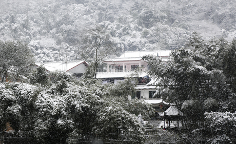 Snowscape of Mount Emei,Sichuan, Chinaの写真素材 [FYI02351862]
