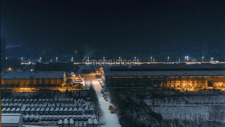 Snowy nightの写真素材 [FYI02351866]