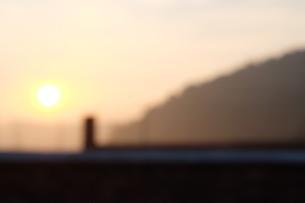 Blurred Mountain Sunrise, Shenzhen, Guangdong, Chinaの写真素材 [FYI02351939]